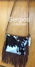 Load image into Gallery viewer, Cowhide Crossbody with Fringe