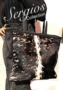 Denver cowhide and deer tote