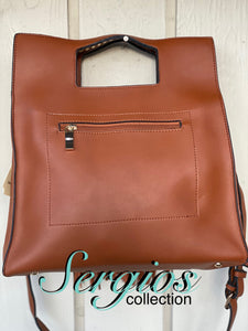 Sergios Tan  leather handbag/crossbody