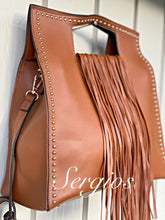 Load image into Gallery viewer, Sergios Tan  leather handbag/crossbody