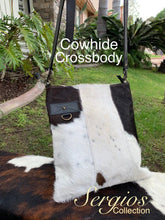 Load image into Gallery viewer, Cowhide crossbody bag