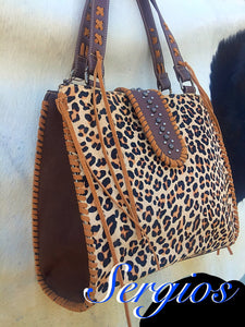 Cheetah Cowhide Bag
