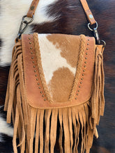 Load image into Gallery viewer, Cowhide crossbody and hipster purse