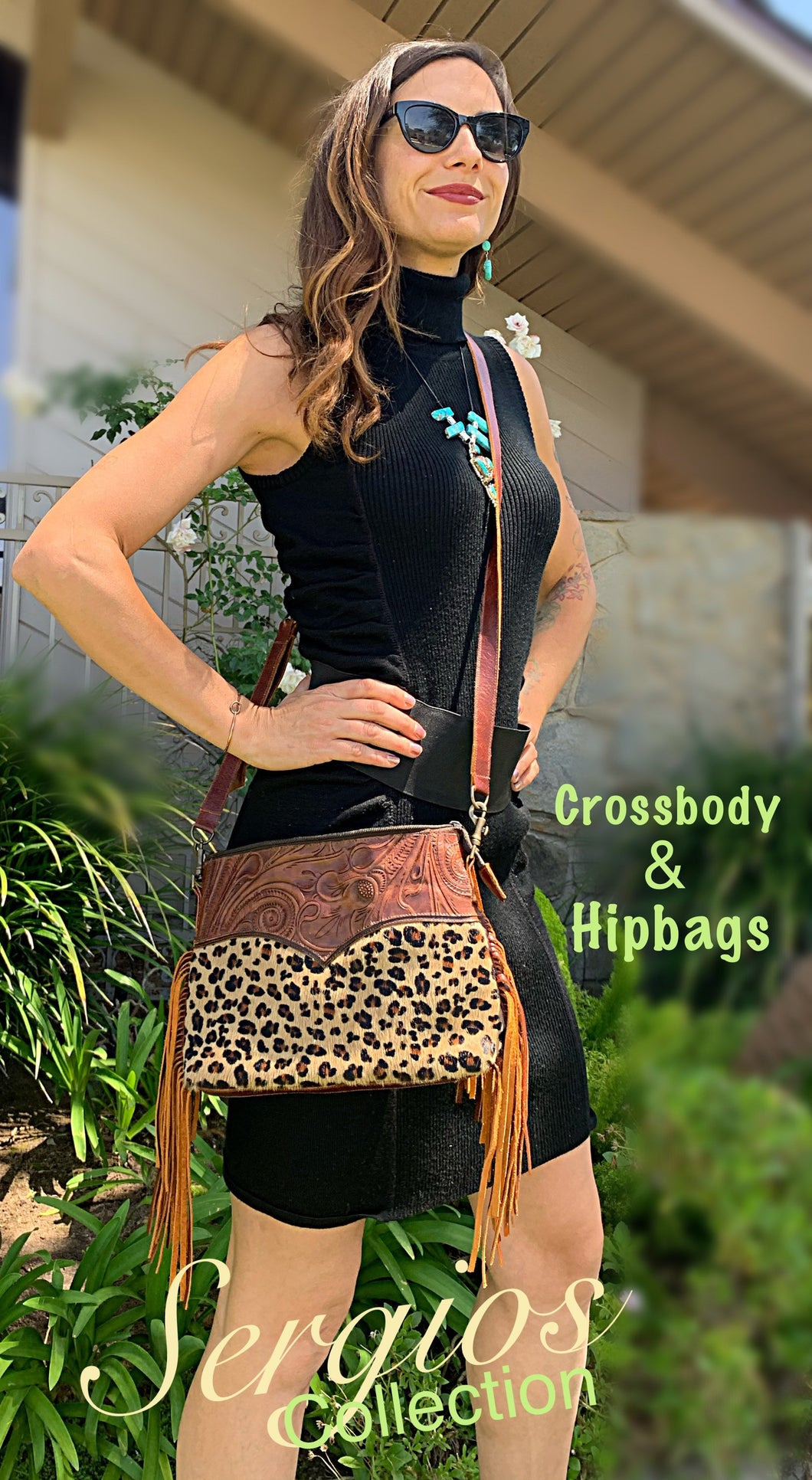 Cheetah crossbody/hipster option