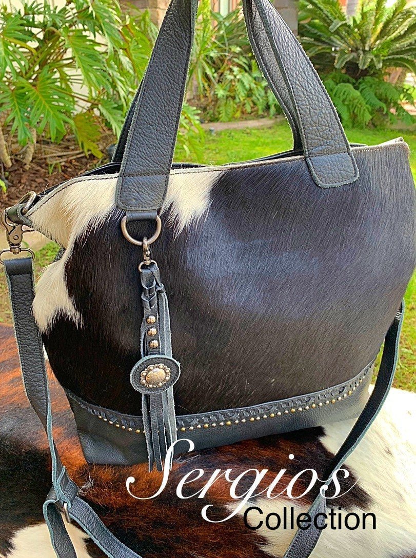 Cowhide leather Tote