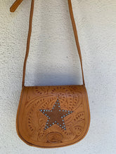 Load image into Gallery viewer, Sergios Vintage Saddle bag crossbody, HandTooled