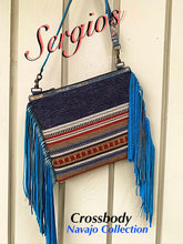 Load image into Gallery viewer, Navajo blue crossbody