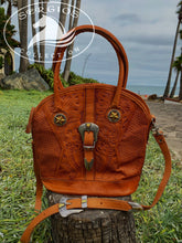 Load image into Gallery viewer, Sergios Vintage handmade Tooled leather shoulder bag