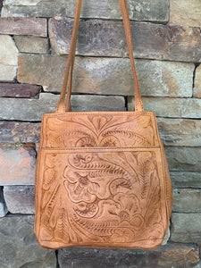 Hand tooled tan classic collection