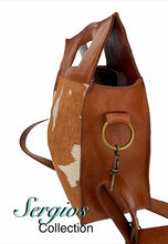 Load image into Gallery viewer, Large cowhide bucket style crossbody.