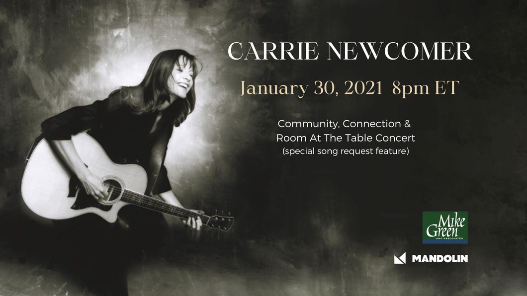 Carrie Newcomer 'Community, Connection & Room At The Table' with Special Song Request Feature
