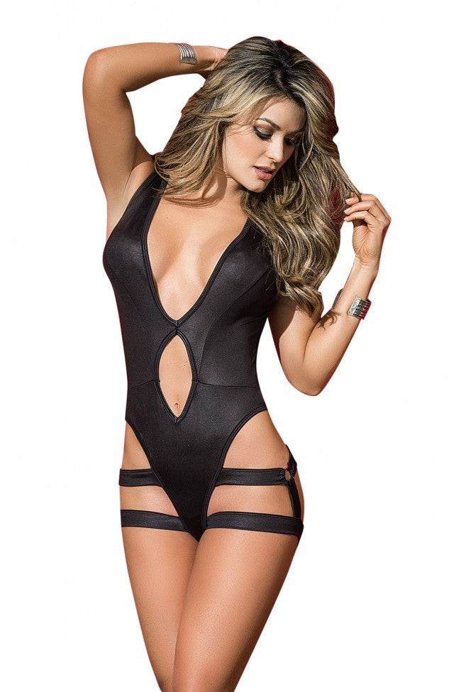 Mapale Black Bodysuit With Harness