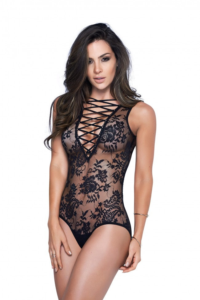 Mapale Black Lace Teddy