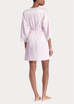 Load image into Gallery viewer, Ralph Lauren Lace-Trim Satin Robe - Pink