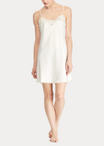 Load image into Gallery viewer, Ralph Lauren Satin Lace Chemise - Ivory