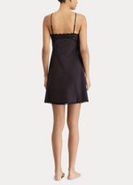 Load image into Gallery viewer, Ralph Lauren Satin Lace Chemise - Black