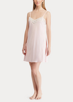 Load image into Gallery viewer, Ralph Lauren Satin Lace Chemise - Pink