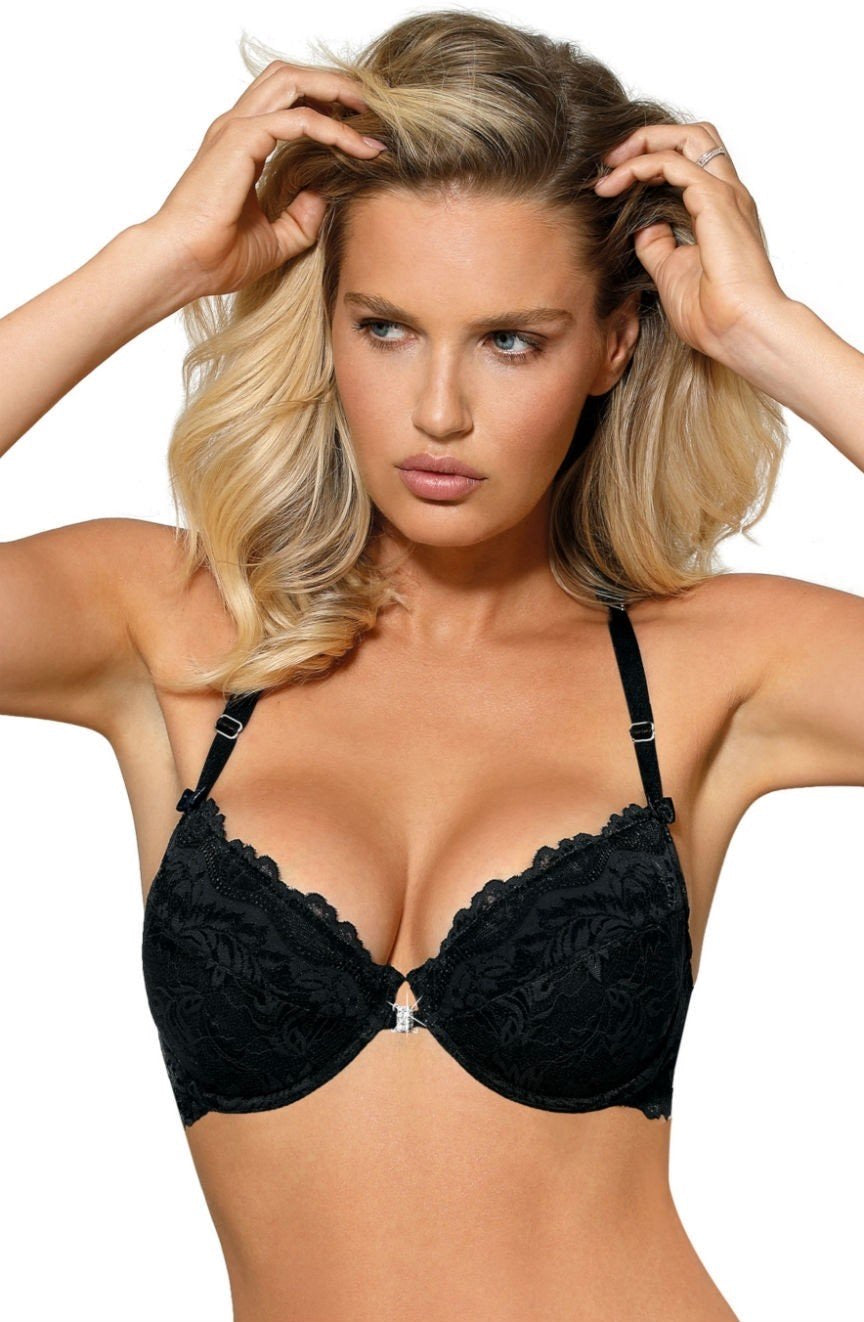 Roza Sefia Push Up Bra Black