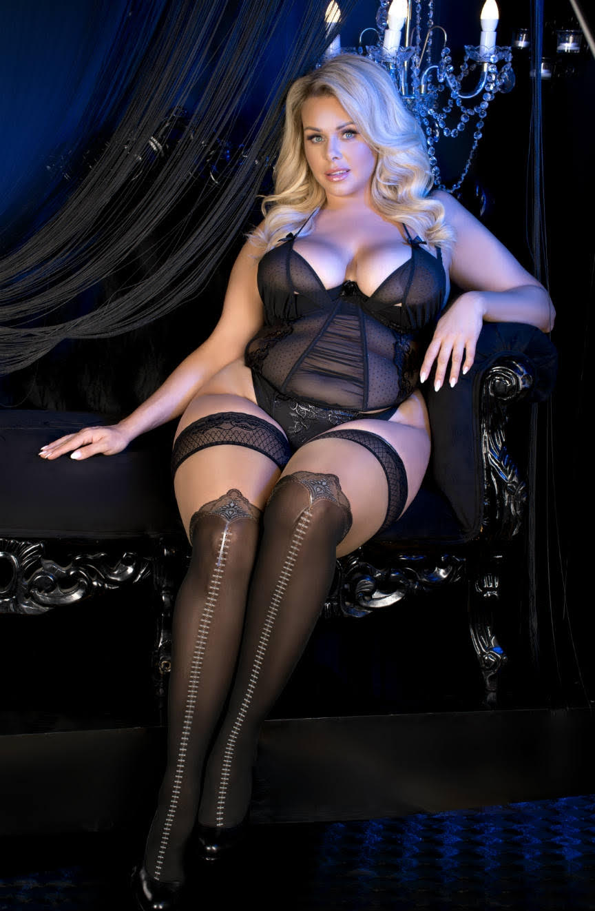 Ballerina 486 Plus Size Hold Ups - Black