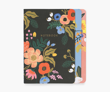Rifle Paper Assorted set of 3 lively floral notebooks