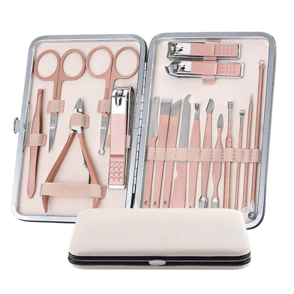 Manicure set rose gold