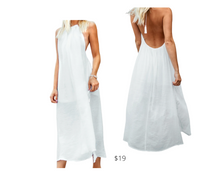 Load image into Gallery viewer, https://www.cupshe.com/products/white-halter-backless-cover-up-with-tassels?_pos=15&_sid=0556cd787&_ss=r