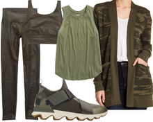 Load image into Gallery viewer, Rectangle Camo Athleisure Look
