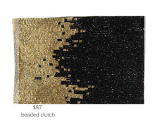Load image into Gallery viewer, https://inkalloy.com/collections/all-bags/products/black-and-gold-ombre-beaded-clutch-bag-6-x-9