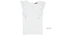 Load image into Gallery viewer, https://www.express.com/clothing/women/lace-ruffle-tank/pro/06286275/color/White/