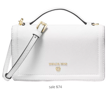 Load image into Gallery viewer, https://www.bloomingdales.com/shop/product/michael-michael-kors-phone-mini-leather-crossbody?ID=3766246&pla_country=US&cm_mmc=Google-PLA-ADC-_-tROAS_FOB_Campaign-_-handbags-_-194900016831USA&gclid=EAIaIQobChMIxdGb34rG6wIVHP7jBx069AU2EAQYCCABEgJ5P_D_BwE