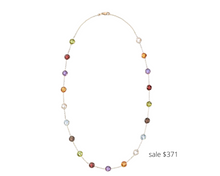 Load image into Gallery viewer, https://www.ross-simons.com/13.80-ct.-t.w.-bezel-set-multi-gemstone-station-necklace-in-14kt-yellow-gold-889466.html?gclid=EAIaIQobChMImZmTl_3B6wIViYbACh2Etg1dEAQYDyABEgJoUPD_BwE&gclsrc=aw.ds