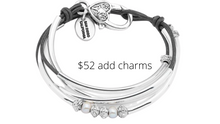 Load image into Gallery viewer, https://www.lizzyjames.com/products/mini-charmer-add-your-charm-choice-wrap-bracelet?variant=33016621641&iap_campaign=IAP-Shopping-ProductType&gclid=EAIaIQobChMI2Jels7CR6wIVFvbjBx1hNQTiEAQYBCABEgIESPD_BwE