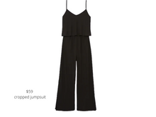 Load image into Gallery viewer, https://www.express.com/clothing/women/ribbed-v-neck-culotte-jumpsuit/pro/07854241/color/Pitch%20Black/e/regular/#reviews
