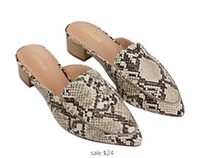 Load image into Gallery viewer, https://www.express.com/clothing/women/textured-slide-loafers/pro/00929595/color/Neutral%20Print/
