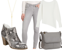 Load image into Gallery viewer, Pear Grey Jeans and Tunic