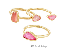 Load image into Gallery viewer, https://www.kendrascott.com/jewelry/categories/rings/ivy-ring-set.html?dwvar_ivy-ring-set_stoneColor=357&dwvar_ivy-ring-set_size=6&cgid=rings#start=2