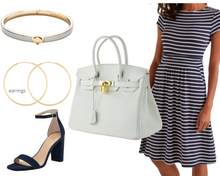 Load image into Gallery viewer, Pear Classic Stripe Dress