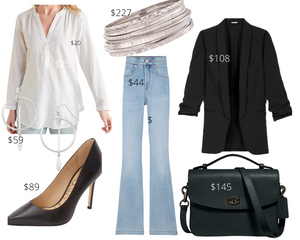 Rectangle Shape Jeans and Tunic