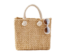 Load image into Gallery viewer, https://www.markandgraham.com/products/handwoven-straw-tote-with-rope-handle/?pkey=cpersonalized-totes&isx=0.0.10710