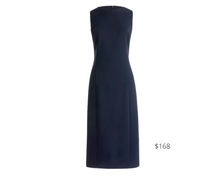 Load image into Gallery viewer, https://www.jcrew.com/p/shops/35_off_almost_fall_faves/dresses/long-sheath-dress-in-fourseason-stretch/K6081?color_name=navy