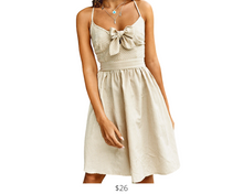 Load image into Gallery viewer, https://www.cupshe.com/collections/beachwear/products/apricot-stripe-lace-up-back-dress?variant=17660415574106