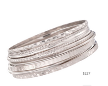 Load image into Gallery viewer, https://www.ross-simons.com/italian-sterling-silver-jewelry-set%3A-seven-assorted-texture-bangle-bracelets-209183.html?gclid=EAIaIQobChMIgv6f8ri56gIVUfDACh3S1AtoEAQYCSABEgJXDfD_BwE&gclsrc=aw.ds