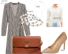 Load image into Gallery viewer, Inverted Triangle Shape Leopard Dress