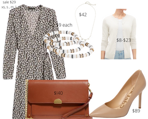 Inverted Triangle Shape Leopard Dress