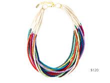 Load image into Gallery viewer, https://inkalloy.com/collections/necklaces/products/rainbow-multi-color-coconut-12-strand-necklace-25-with-extension
