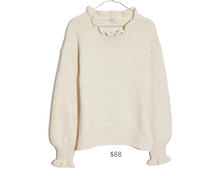 Load image into Gallery viewer, https://www.madewell.com/ruffle-neck-pullover-sweater-in-cotton-merino-yarn-AG587.html?dwvar_AG587_color=NA0052&dwvar_AG587_size=M&cgid=apparel-sweaters#start=11