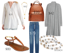 Load image into Gallery viewer, Inverted Triangle Skinny Jeans and White Tunic