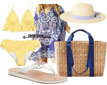 Load image into Gallery viewer, Pear Shape Yellow Polka Dot Tankini