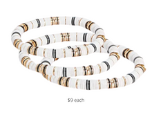 Load image into Gallery viewer, https://www.express.com/clothing/women/multicolor-metal-stretch-bracelet/pro/00507299/color/White%20and%20Black/