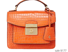 Load image into Gallery viewer, https://www.macys.com/shop/product/lauren-ralph-lauren-croc-embossed-leather-medium-beckett-satchel?ID=10536053&pla_country=US&CAGPSPN=pla&CATARGETID=120156340018139623&cadevice=c&cm_mmc=Google_Handbags_PLA-_-G_PLA_Handbags_Lauren_Ralph_Lauren_Lauren_Ralph_Lauren-_-69538622167-_-pg1888024_c_kclickid_9123f933-72c5-412e-8755-13d3cbad91d7_KID_EMPTY_197385727_14183177407_69538622167_pla-380056331711_883820752300USA__c_KID_&trackingid=477x1888024&m_sc=sem&m_sb=Google&m_tp=PLA&m_ac=Google_Handbags_PLA&m_ag=Lauren